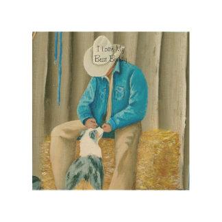 """Best Buddies"" Painting by Barbara A Applegate Wood Wall Decor"