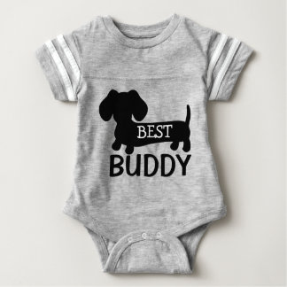 Best Buddy Dachshund One Piece Baby Outfit Baby Bodysuit
