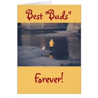 """BEST BUDS FOREVER!"""", """"Happy Valentine's Day"""" Card"""