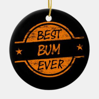 Best Bum Ever Orange Ceramic Ornament
