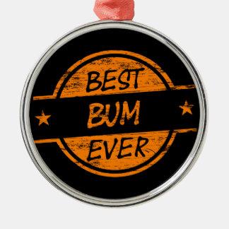 Best Bum Ever Orange Metal Ornament