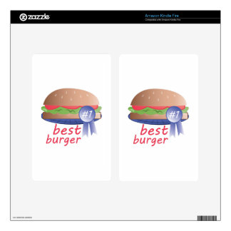 Best Burger Kindle Fire Decal