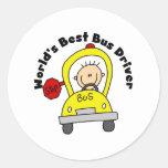 Best Bus Driver Classic Round Sticker