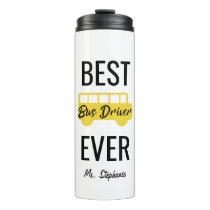 Best Bus Driver Ever Personalized Yellow Black Thermal Tumbler