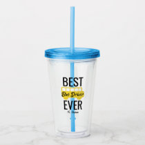 Best Bus Driver Ever School Bus Personalized Acrylic Tumbler