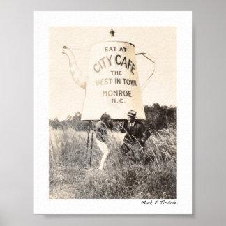 Best Cafe In Monroe North Carolina - 1929 - Mini Poster