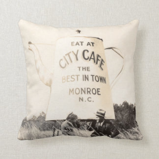 Best Cafe In Monroe North Carolina - 1929 Throw Pillow