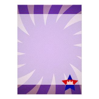 """Best Cambodia Flag Design 5"""" X 7"""" Invitation Card"""