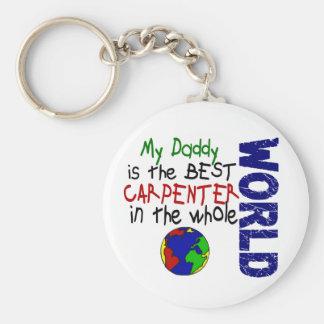 Best Carpenter In World 2 (Daddy) Basic Round Button Keychain