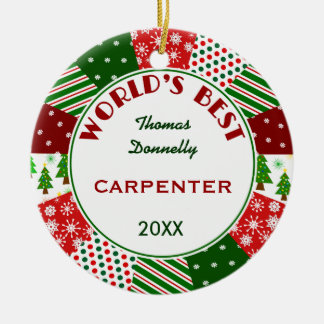 BEST CARPENTER or Any Occupation Ceramic Ornament