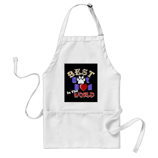 Best Cat Dad In The World for Father's Day Adult Apron