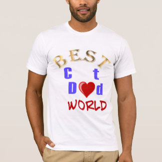 Best Cat Dad In The World for Father's Day T-Shirt