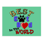 Best Cat Dad in the World Gifts Postcard
