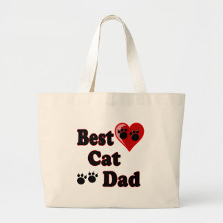 Best Cat Dad Merchandise for Father's Canvas Bag