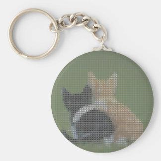 Best cat forever basic round button keychain
