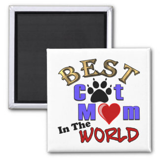 Best Cat Mom In The World Gifts for Mother's Day 2 Inch Square Magnet