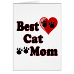 Best Cat Mom Merchandise for Mother's Card
