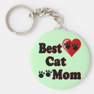 Best Cat Mom Merchandise for Mother's Keychain