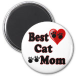 Best Cat Mom Merchandise for Mother's 2 Inch Round Magnet