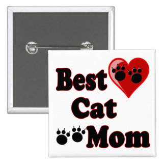 Best Cat Mom Merchandise for Mother's Pinback Button