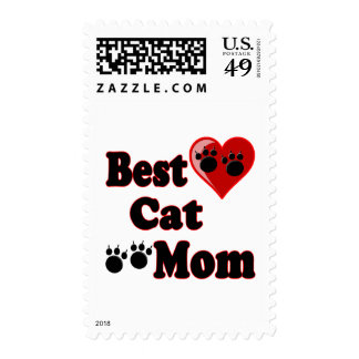 Best Cat Mom Merchandise for Mother's Stamps