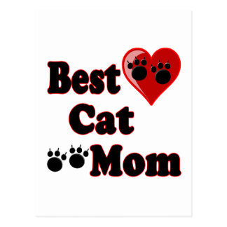 Best Cat Mom Merchandise for Mother's Postcard