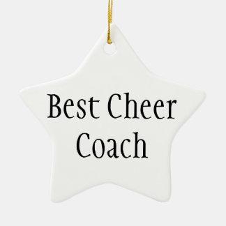 Best Cheer Coach Ceramic Ornament
