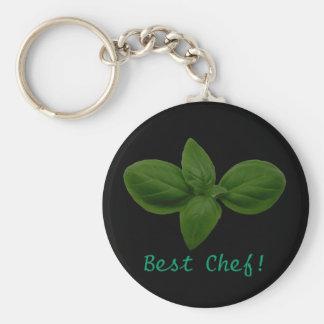 Best Chef! Basil Leaf Keychain