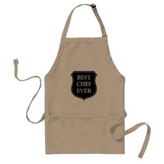 Best chef ever BBQ apron for men | Beige