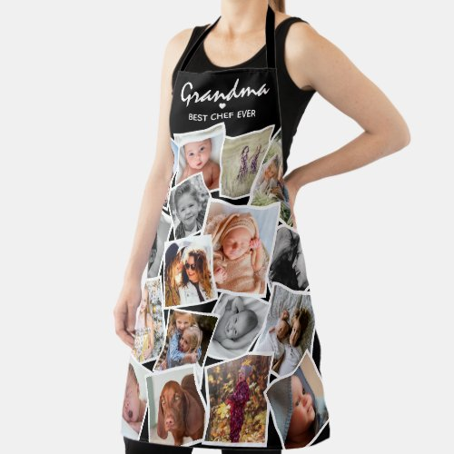 Best Chef Ever Modern Photo Collage All over Print Apron