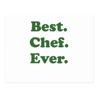 Best Chef Ever Postcard