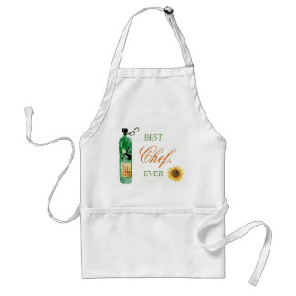 Best chef ever typography oil bottle sunflower adult apron