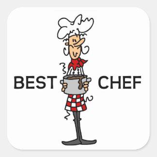 Best Chef Square Sticker