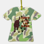 Best Chocolate Lab Daddy Ever Camo Christmas Ornament