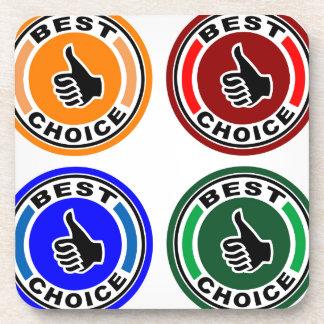 Best choice colorful symbols beverage coaster