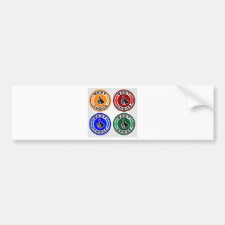 Best choice colorful symbols bumper sticker