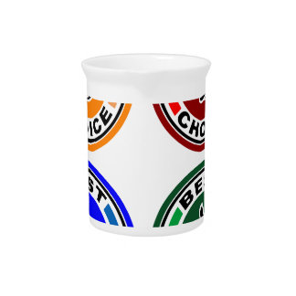 Best choice colorful symbols drink pitcher