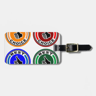 Best choice colorful symbols luggage tag