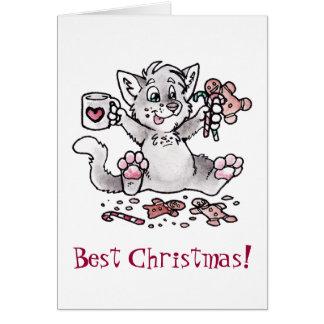 Best Christmas! Cat Card