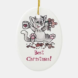 Best Christmas! Cat Ornament