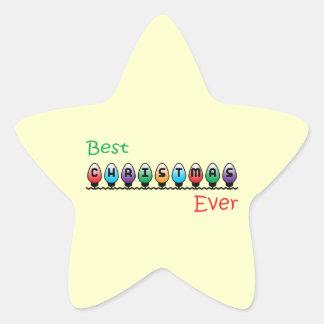 Best Christmas Ever Star Sticker