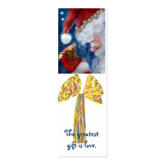 Best Christmas Gift is Love bookmark Business Card Template