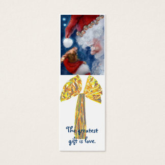 Best Christmas Gift is Love bookmark Mini Business Card