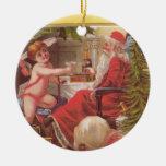 Best Christmas Ornaments - 2 Sided Vintage Santas