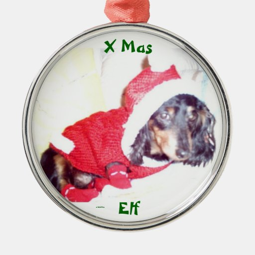BEST CHRISTMAS TREE ORNAMENTS - MINI DACHSHUND ELF