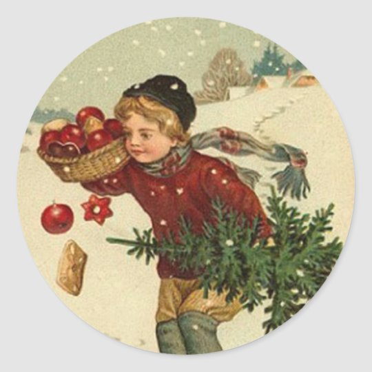Best christmas Wishes Classic Round Sticker