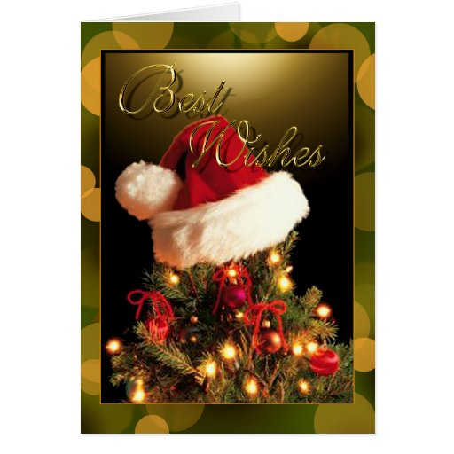 Best Christmas Wishes Greeting Card Zazzle
