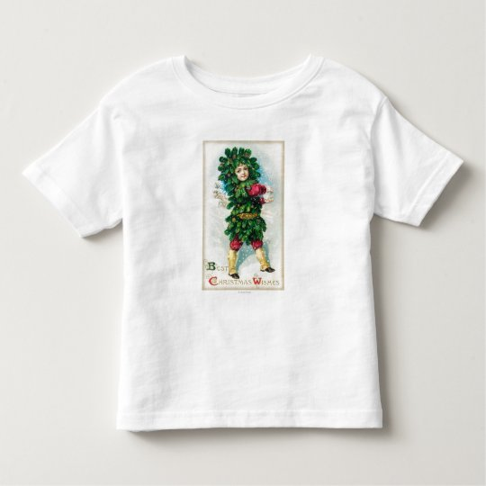 Best Christmas Wishes Man in Evergreen Coat Toddler T-shirt