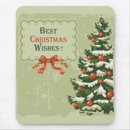 Best Christmas Wishes Mouse Pads