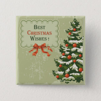 Best Christmas Wishes Pinback Button